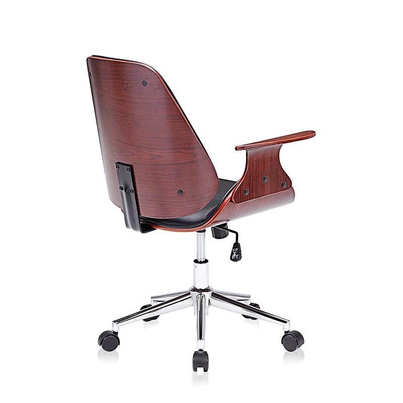 schwarz-braun-Sadie-Design-Stuhl-Retro-Büro-Hocker-Esszimmerstuhl-Vintage-Bürostuhl-Kunstleder4