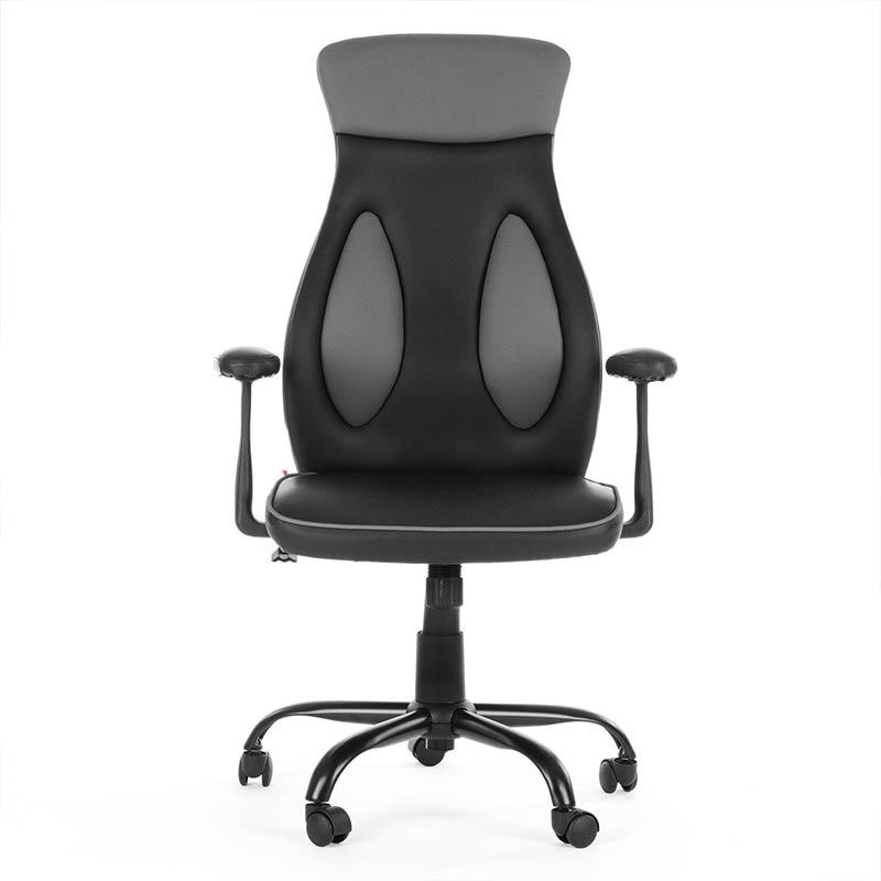 1Chefsessel-Schreibtischstuhl-Drehstuhl-Design-Kunstleder-Stuhl