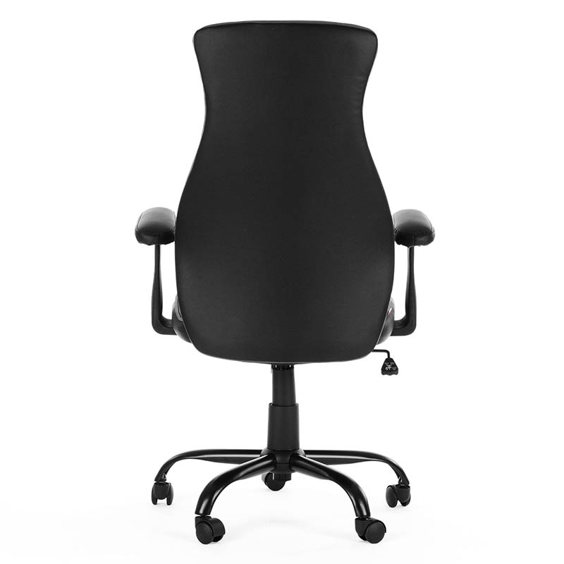 4-Chefsessel-Schreibtischstuhl-Drehstuhl-Design-Kunstleder-Stuhl