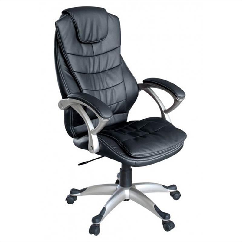 Chefsessel-Schreibtischstuhl-Drehstuhl-Design-Kunstleder-Stuhl