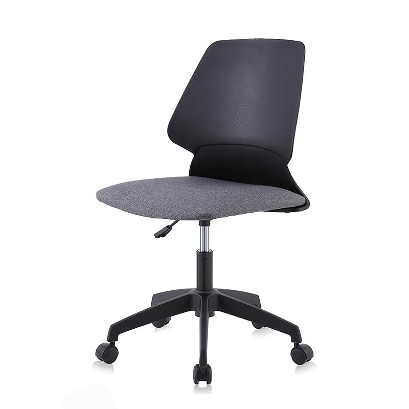 Chefsessel-Schreibtischstuhl-Drehstuhl-Design-Stoff-Stuhl-Schwarz-graumy-sit-retro
