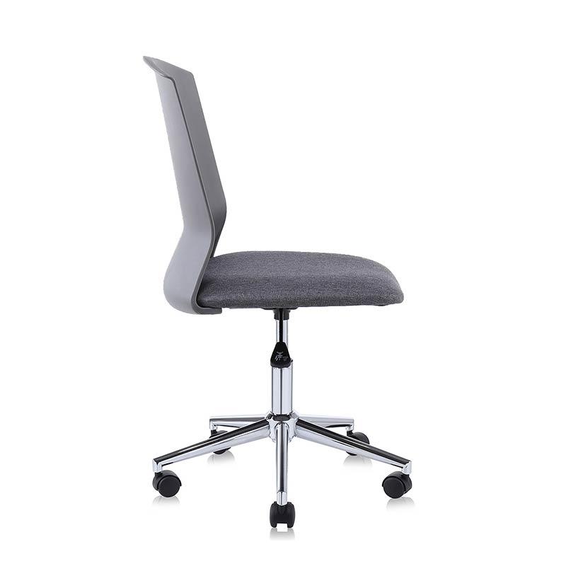 Chefsessel-Schreibtischstuhl-Drehstuhl-Design-Stoff-Stuhl-grau